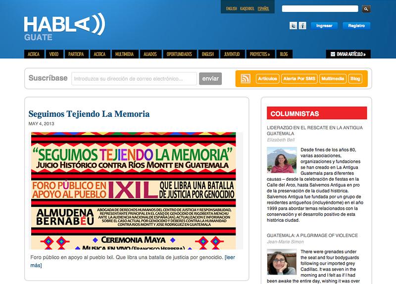 HablaGuate Homepage
